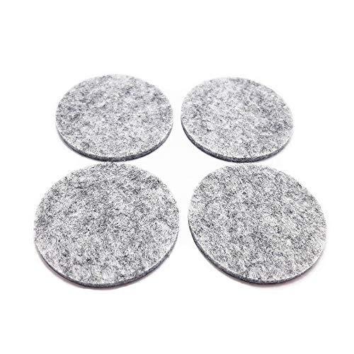 4Pcs/Set Self Adhesive Furniture Leg Feet Rug Floor Effects Felt Pads Anti Slip Mat Bumper Damper for Chair Table Protector Hardware (Round 40mm, Gray)