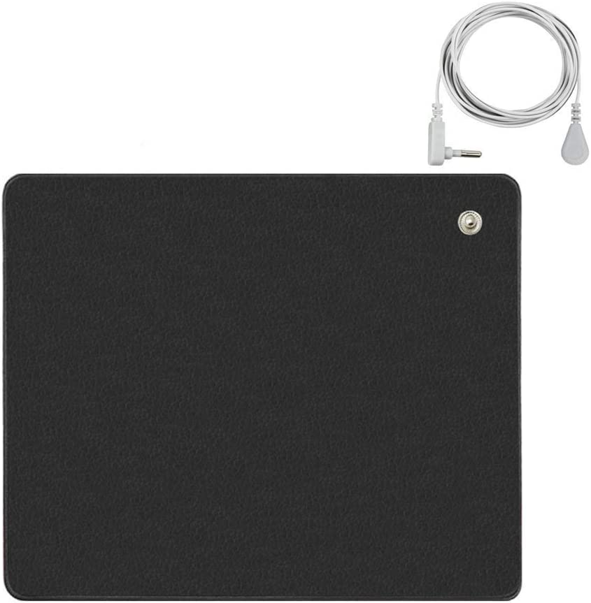 EMF Radiation Protection /& Heat Shield,Earthing Grounding Computer Mouse pad /& Grounding Cord for EMF Protection,Pain 9.8IN X 11.8IN Carpel Tunnel Earthing Mat,Grounding Mat Earth Negative Ions