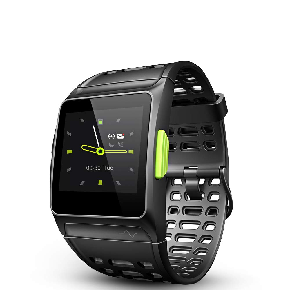 LUKAWIT Fitness Tracker GPS Running Watch, Activity Tracker with Heart Rate Monitor, HRV Analysis, Pedometer, Sleep, Steps Tracker with Multi-Sports Modes, 5ATM Waterproof Bluetooth Smart Watch, Black