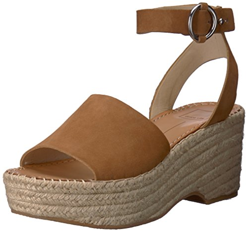 - Dolce Vita Women's Lesly Wedge Sandal, Saddle Suede, 9.5 M US