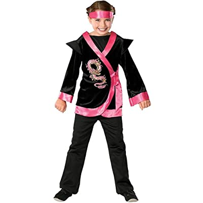 Child\'s Pink Dragon Ninja Costume, Small: Toys & Games [5Bkhe0305868]