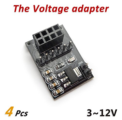 Lenitech 4pcs Breakout Adapter for NRF24L01+ with on-Board 3.3V Regulator