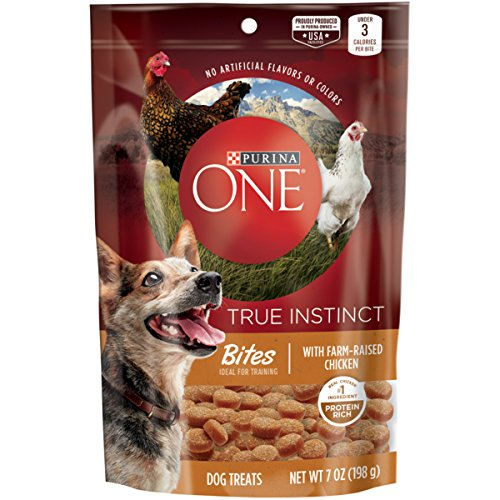 Purina ONE Made in USA Facilities Dog Training Treats; True Instinct Bites With Farm-Raised Chicken - 7 oz. Pouch