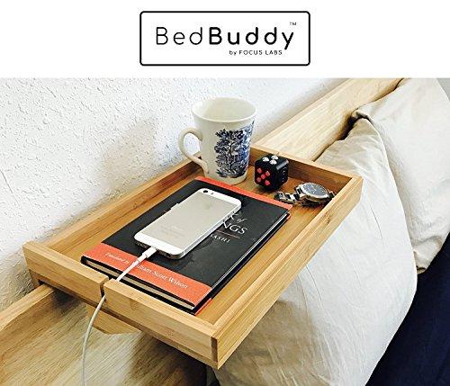 Bedbuddy Bamboo Bedside Shelf For Bunk Beds Headboards