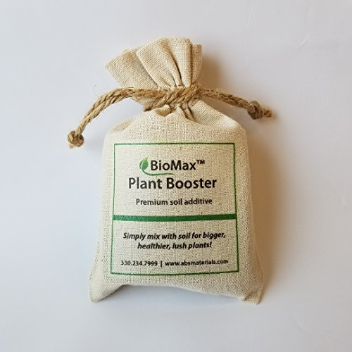 (BioMax Plant Booster: Premium Soil Additive to Grow Big, Healthy, Lush Plants.. Four packets - Enough to treat four 8
