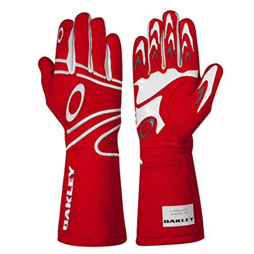 Oakley 94106 Mens Fr Driving Glove, Red - XL