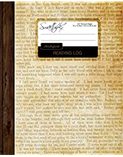 """Reading Log: Gifts for Book Lovers / Reading Journal [ Softback * Large (8"""" x 10"""") * Antique Paper * 100 Spacious Record Pages & More... ]"""