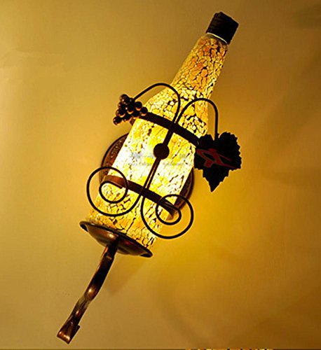 DGS Bar Ktv Wall Light Creative Individuality Industrial Light Cafe Aisle Corridor Stained Glass Bottle Wall Lamp , 4