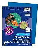 "SunWorks Construction Paper, Bright Blue, 9"" x 12"", 50 Sheets"