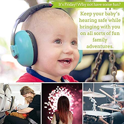 Baby Ear Protection - Comfortable and Adjustable Premium Noise Cancelling Headphones for Babies, Infants, Newborns (0-2+ Years) | Best Baby Headphones Noise Reduction for Concerts, Fireworks & Travels by Friday Baby (Image #7)