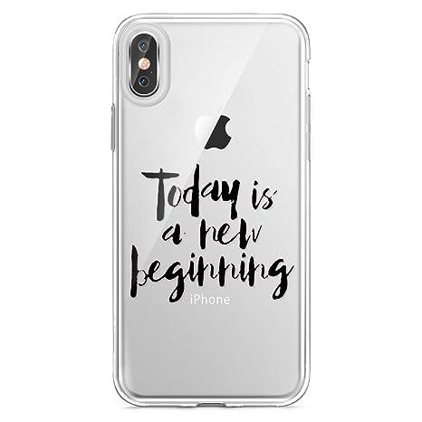 Funda iPhone XR,Carcasa iPhone XR Silicona Suave,Transparente Pluma y Inglés Frase Patrón Ultra Fina Brillante Crystal Clear Silicona TPU Case