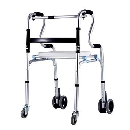 Gravity Andador con Ruedas De 6 Ruedas con Asiento, Ayuda para Caminar con Movilidad Plegable