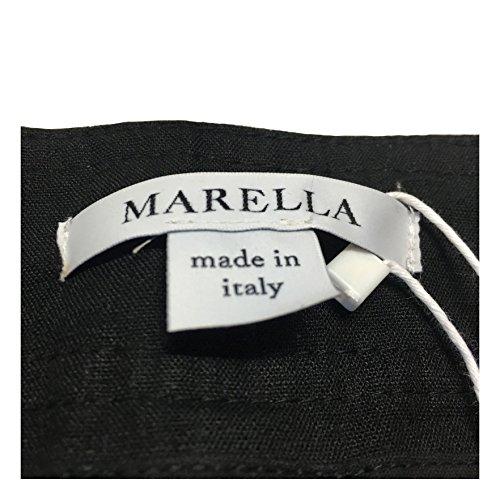 In Portarlo Made Marella Al Lino Nero Italy 100 Ginocchio Donna Possibilità Con Di Pantalone UYUgqP7