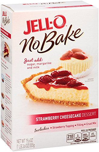 Strawberry Cheesecake Dessert - JELL-O Strawberry No Bake Cheesecake Dessert Kit (19.6 oz Boxes, Pack of 6)