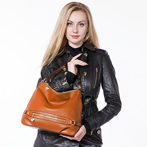 Bandolera Bolso rosado Shopper Tote Mujer Marrón Bag Cuero Morado Niña Grande PA4A7Sq