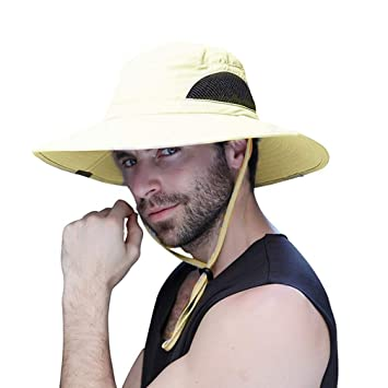 a9c1bc3fc8e0b Sombrero hombre verano pescar excursionismo pescador de ala ancha plegable  impermeable para el sol sombrero jpg