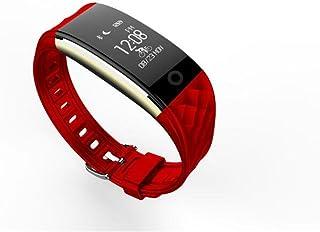XIAOMEIXI Smart Braccialetto Fitness Tracker Monitoraggio cardiofrequenzimetro Sport Pedometro Salute Bluetooth Wristband con Controllo qualità sonno per Smartphone, Rosso