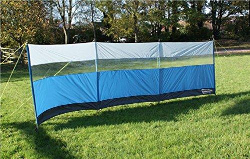 Leisurewize 500cm x 140cm Polyester Wind Break Blue Caravan//Camping