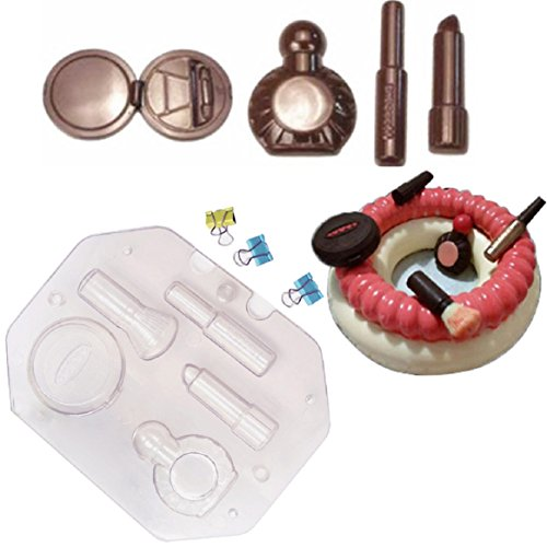 Coerni 3D Make-up Chocolate Candy Mold with 3 Clips ()