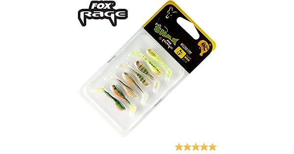 Fox Rage Micro Fry Mixed Colour Pack 4 cm 8 – Señuelo de goma para ...