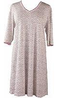 RocketWear Abstract Flower Cotton/modal Knit Cream T Dress/nightgown