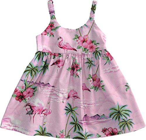 RJC Baby Girl's Flamingo Paradise Hawaiian Bungee Dress Pink 6-Months