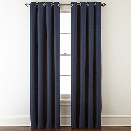 JCPenney Home Quinn Basketweave Grommet-Top Curtain Panel, 50