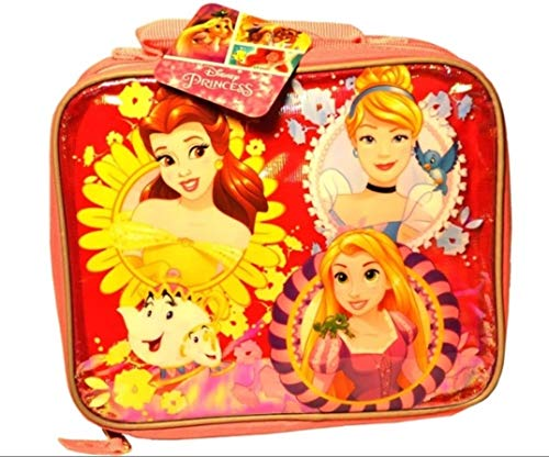 Disney Princess Insulated Lunch Bag with Water Bottle, Sandwich Container and Snack - Cup Disney Insulated Princess
