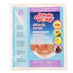 Living World Gravel Paper 12 Inches x 14 Inches (8/Pack)