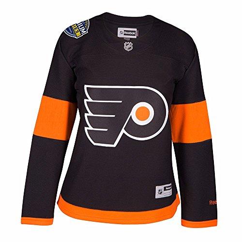 Reebok Philadelphia Flyers Patch - Reebok Philadelphia Flyers NHL Black 2017 Stadium Series Premier Edge Jersey for Women (L)