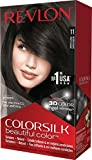 soft black hair color - Revlon ColorSilk Beautiful Color, Soft Black
