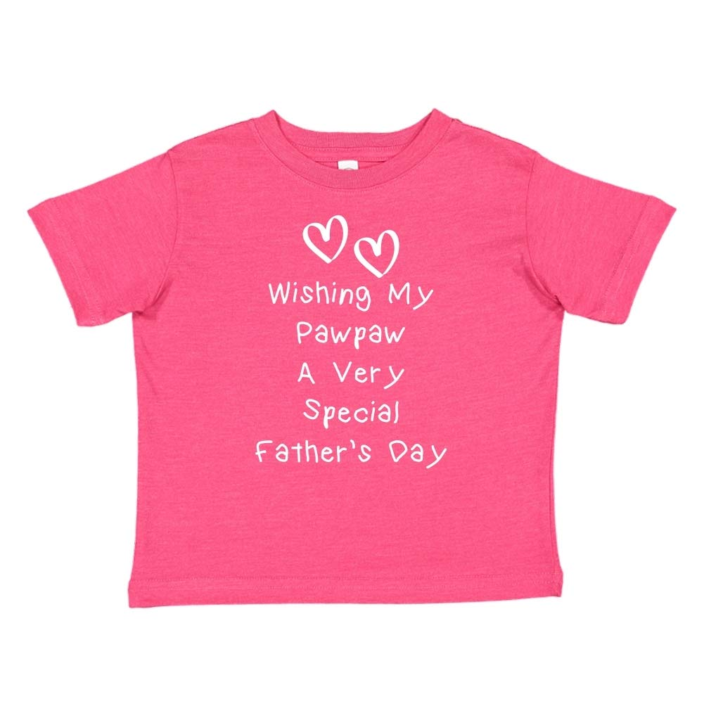 Mashed Clothing Wishing My Pawpaw A Very Special Fathers Day Toddler//Kids Short Sleeve T-Shirt