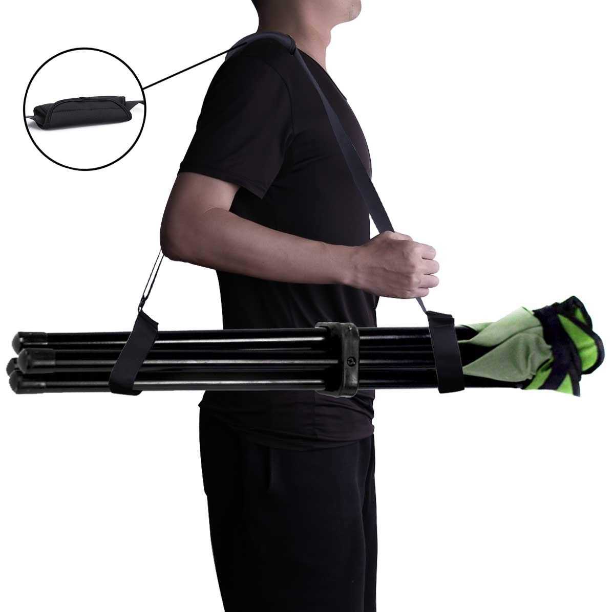 XJunion Adjustable Kick Scooter Shoulder Strap Kick Scooter Carrying Strap Universal Folding Chair Strap- No Further Damage to Your Back Chair Not Included No Scooter