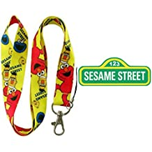 "Sesame Street Elmo 19"" Yellow Lanyard Auto ID Badge Holder/Key Chain from Outlander Gear"