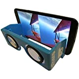 3D VR Glasses - Portable and Foldable Google Cardboard Party Pack of 10 for Viewing Parties! Virtual Reality Goggles, Foldable and Come With Case