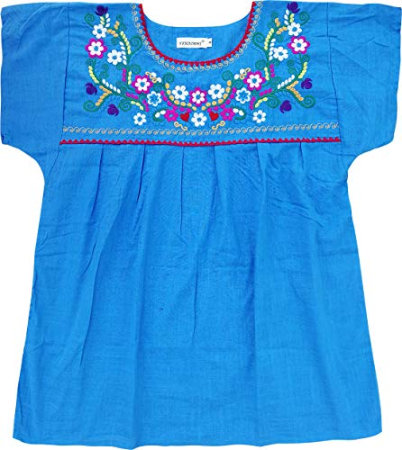 - YZXDORWJ Embroidered Mexican Peasant Blouse (L, D169-BL)