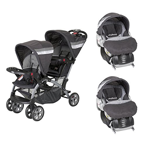 Baby Trend Sit And Stand Double Stroller Carbon - 3