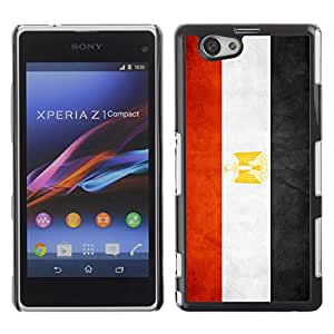 Graphic4You Vintage Egyptian Flag of Egypt Design Thin Slim Rigid Hard Case Cover for Sony Xperia Z1 Compact