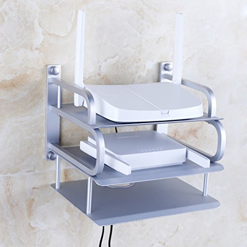 Price comparison product image Wifi companion TV Set-top Box Shelf - Wall-mounted Living Room Shelf Router Bracket (punch Style) (Color : A-3)