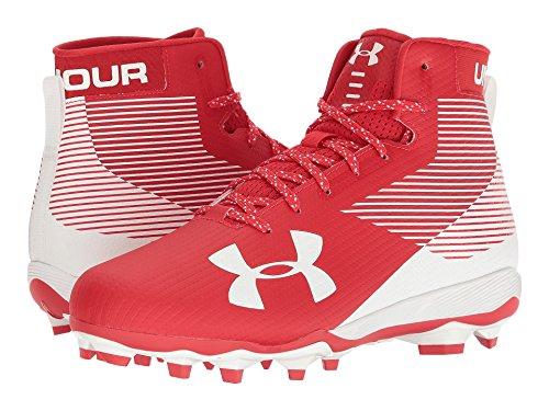 必要やさしい恐れる(アンダーアーマー) UNDER ARMOUR メンズフットボール?アメフトシューズ?靴 UA Hammer MC Red/White 8.5 (26.5cm) D - Medium