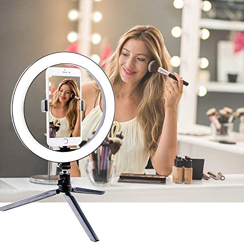 FGAITH Desktop Mini-Light Photography Simple annular Led Selfie Fill Light Illumination lamp to The Phone Holder Makeup Mirror Lights Photography Light