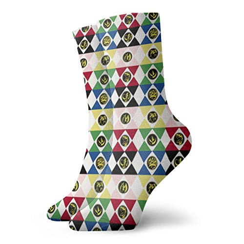 Power Rangers Casual Fashion Crew socks Casual Funny For sports boot hiking running etc.