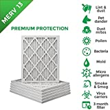 14x20x1 MERV 13 (MPR 2200) Pleated AC Furnace Air Filters. Box of 6