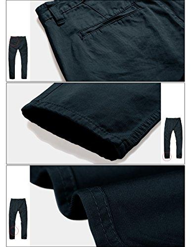 8025 Verde Casual Uomo Moss Green Scuro 8025 Slim dark Match Pantaloni Muschio q4wZX