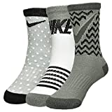 Nike Girl's Pattern 3-Pack Crew Socks 9C-13C