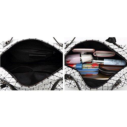 Sac Couture Cube à Paquet Diagonale Pliage à Sac Main Main Style Lady Silicone Japonais Carré Rhombe Blue D'oreiller épaule Décontracté Sacs IwvxBaEqx