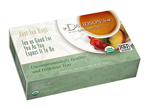 Davidson's Organic Tea Cherry Vanilla, 100-Count Tea Bags