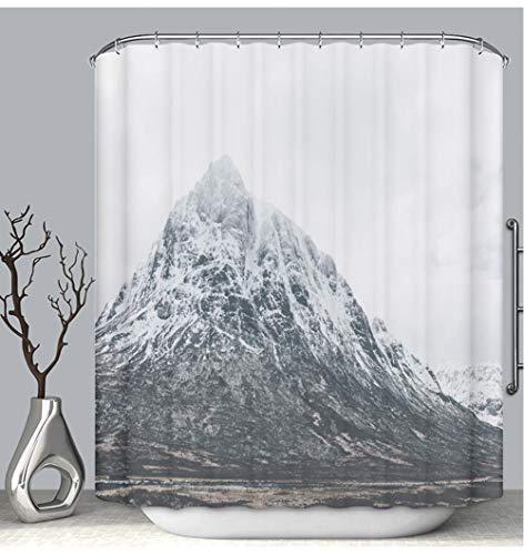 BEICICI Color Shower Curtain Liner Anti-Mildew Antibacterial Snowcapped Mountains in Scottish Highlands Near Glen Coe Scotland Custom Shower Curtain Bathtub Bathroom Accessories 60W×72Linch