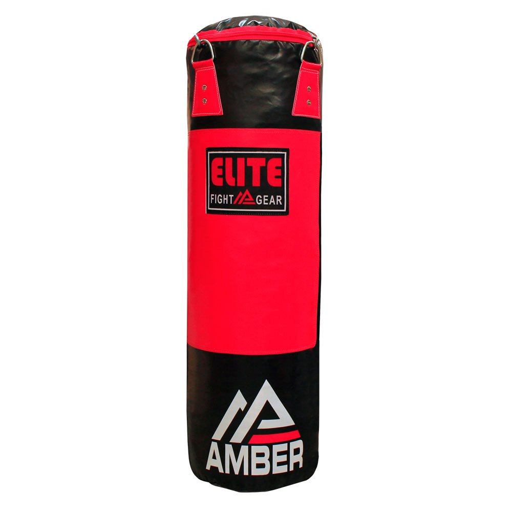 (32kg, Red) - Amber Elite Heavy bag Boxing Muay Thai MMA Fitness Workout Training Kicking Punching UNFILLED Empty Heavy Bag B075ZPYC3D
