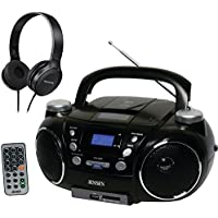Jensen CD750 Portable AM/FM Stereo CD, MP3, Encoder/Player w/ On-Ear Headphones
